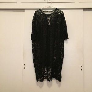 floral lace little black dress
